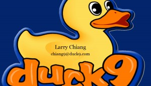 Larry Chiang business card,  98 San Jacinto Austin TX 78701