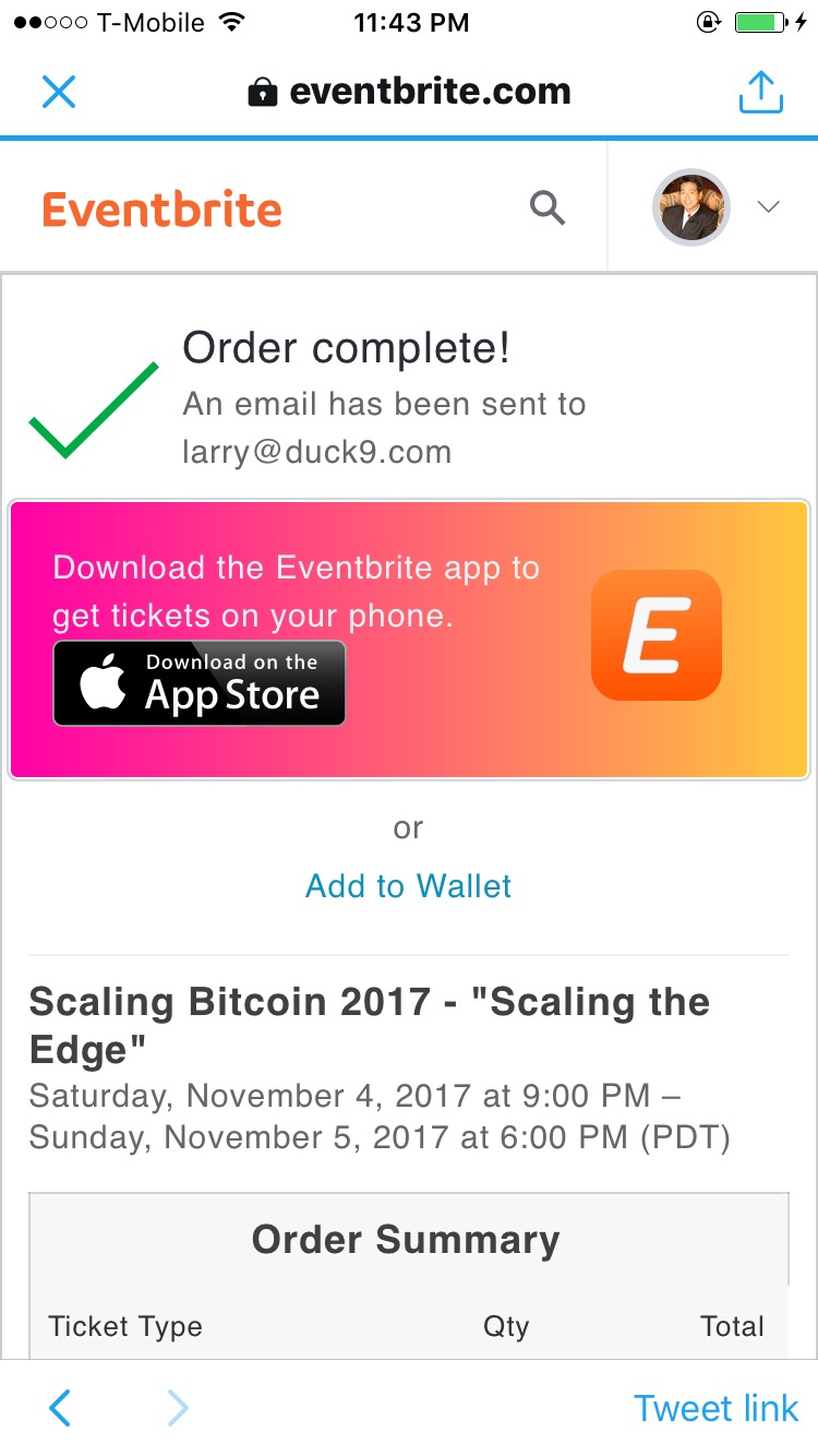 "Scaling (Bitcoin) ""Scaling the Edge"" – November 4th and 5th"